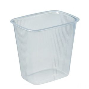 Clear plastic container - 500 ml
