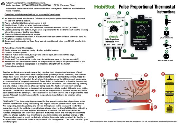 Pulse Thermostat Instructions English version